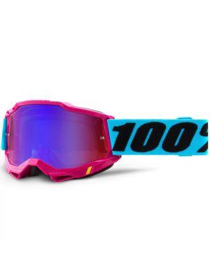 100% Accuri2 Goggle Lefleur Mirror Red/Blue Lens