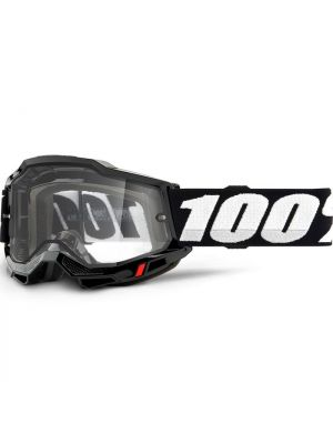 100% Accuri2 Enduro Moto Goggle Black Clear Lens