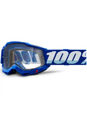 100% Accuri2 Enduro Moto Goggle Blue Clear Lens