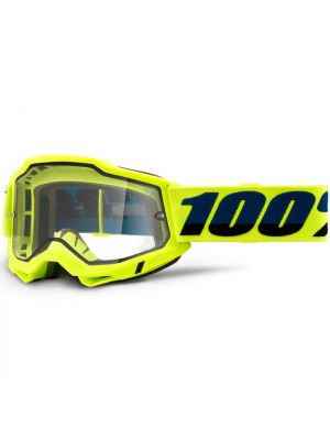 100% Accuri2 Enduro Moto Goggle Yellow Clear Lens