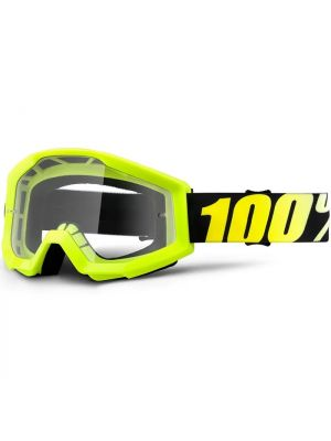 100% Strata Goggle Youth Neon Yellow Clear Lens