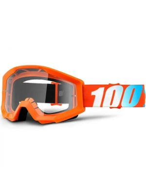 100% Strata Goggle Youth Orange Clear Lens