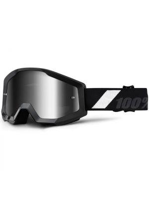 100% Strata Jnr Goggle Goliath Mirror Silver Lens