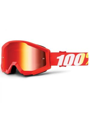 100% Strata Jnr Goggle Furnace Mirror Red Lens