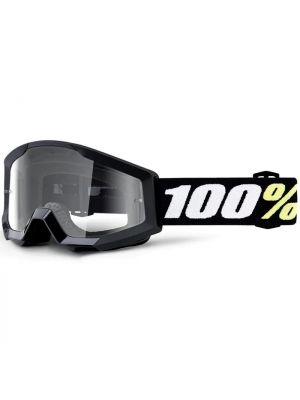 100% Strata Mini Goggle Black Clear Lens