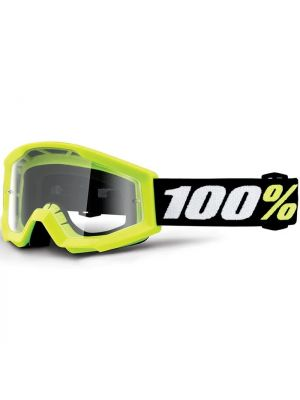 100% Strata Mini Goggle Yellow Clear Lens