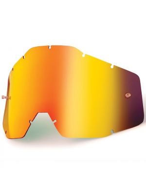 100% Accuri & Strata Youth Red Mirror Lens