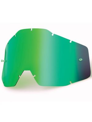 100% Accuri & Strata Youth Green Mirror Lens