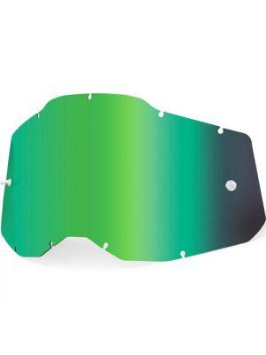 100% Accuri2 & Strata2 Youth Lens Mirror Green