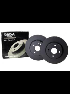 RDA Standard Replacement Rotors Pair - Front - Toyota FJ Cruiser 4.0L V6 MY10+, Hilux 2WD GUN136 & GUN136R 2.8L MY15+, Hilux 4WD KUN with VSC / GUN126R MY10+
