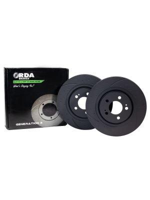 RDA Slotted Rotors Pair - Rear - Toyota Landcruiser 200 Series MY07-21 & Tundra 5.7L V8 MY09+ / Lexus LX570 MY07+