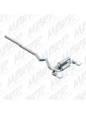 MBRP Installer Series 3in Cat Back Dual Outlet Exhaust Aluminised - Ford Focus RS MY16+