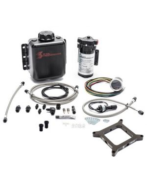 Snow Performance Stage 2.5 Boost Cooler, Carb 4150 Flange, Forced Induction Progressive Water-Methanol Injection Kit with Stainless Steel Braided Lines