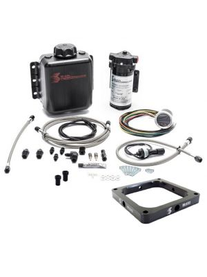 Snow Performance Stage 2.5 Boost Cooler, Carb 4500 Flange, Forced Induction Progressive Water-Methanol Injection Kit with Stainless Steel Braided Line