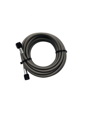 Snow Performance 15ft Braided Stainless Line (Black) w/ -4AN Fittings (15ft Only)