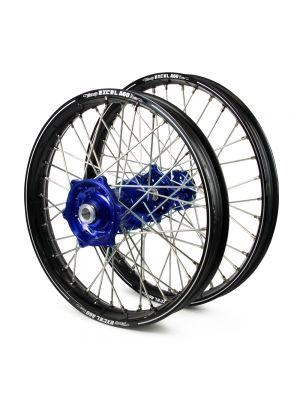 Talon / Excel A60 SNR MX Black Rims / Blue Hubs Wheel Set - Honda