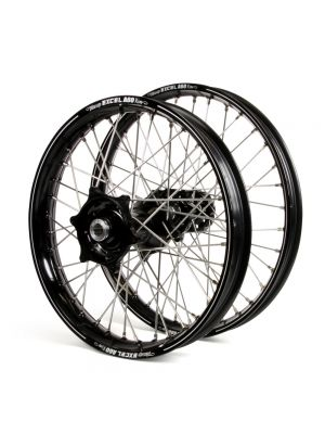 Talon / Excel A60 SNR MX Black Rims / Black Hubs Wheel Set - Husqvarna