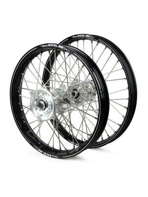 Talon / Excel A60 SNR MX Black Rims / Silver Hubs Wheel Set - Husqvarna