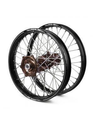 Talon / Excel A60 SNR MX Black Rims / Mag Hubs Wheel Set - Honda