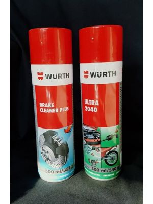 Wurth Brake Cleaner Plus and Ultra 2040 package